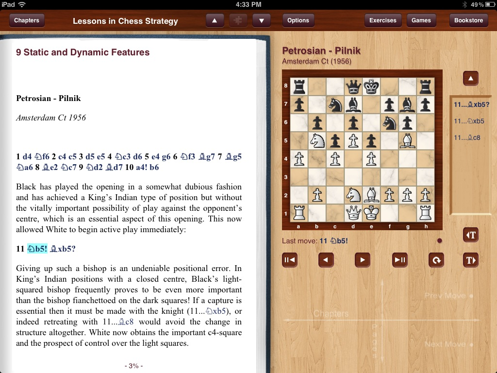 Screenshot from Lessons in Chess Strategy